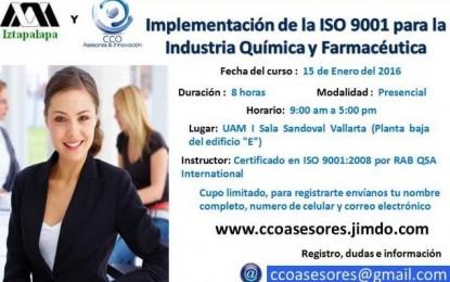 Implementación de la ISO 9001 para la Industria Química y Farmacéutica
