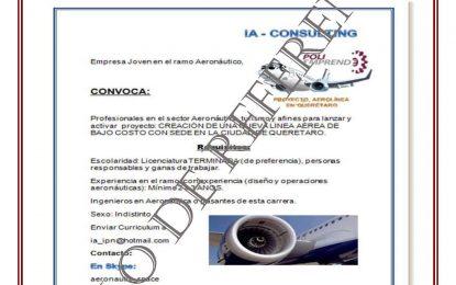 Se solicita personal para Industria Aeronáutica