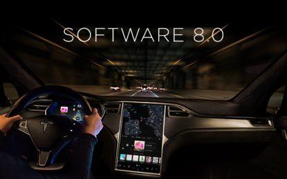 Tesla libera la actualización 8.0