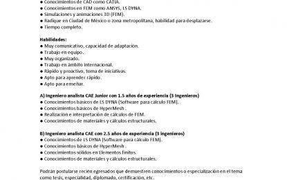 Fundación FESE solicita Ing. Automotriz, Mecánico o Mecatrínico